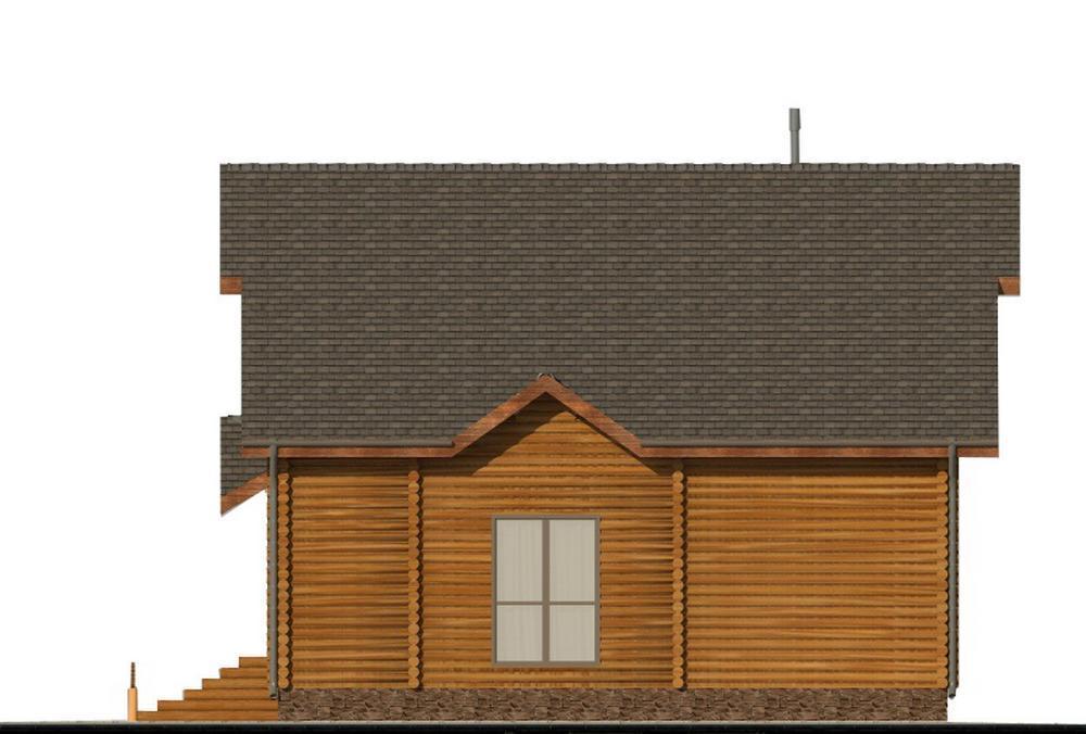 Секвойя A-081. Проект мансардного дома из бруса с тремя спальнями