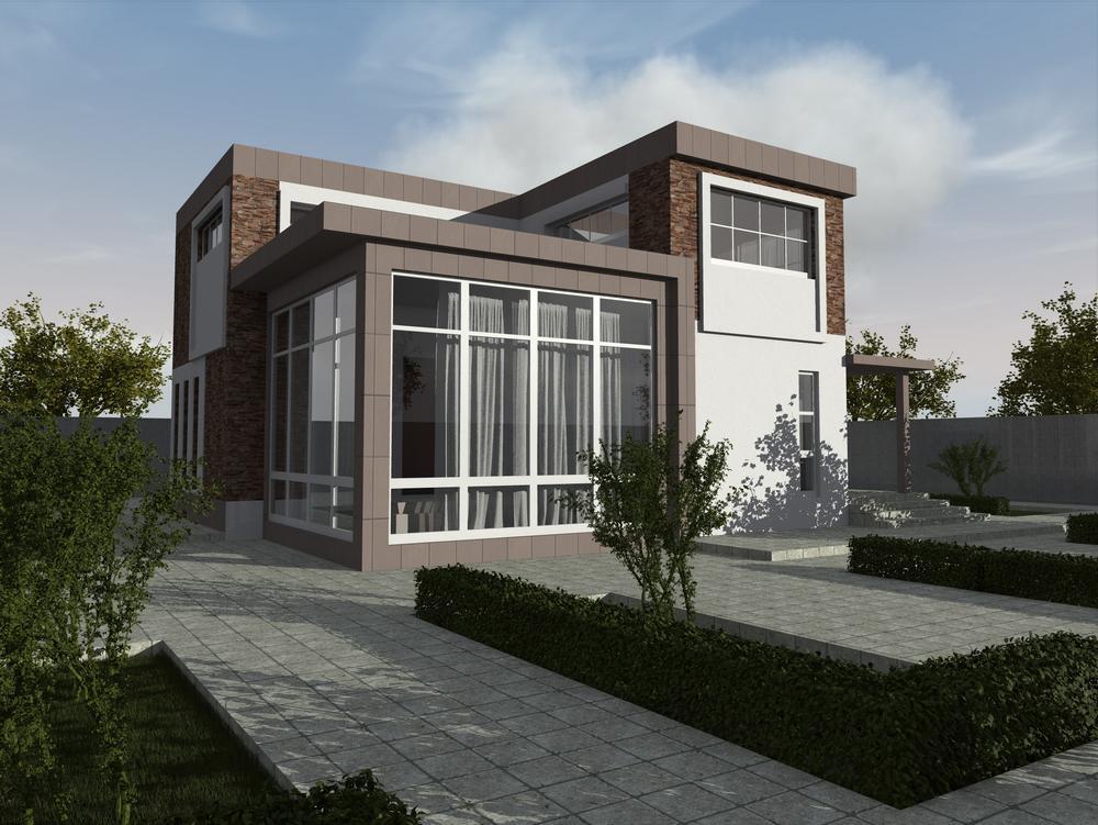 Серебряный ручей D-083 с видеообзором. Проект современного двухэтажного дома с тремя спальнями