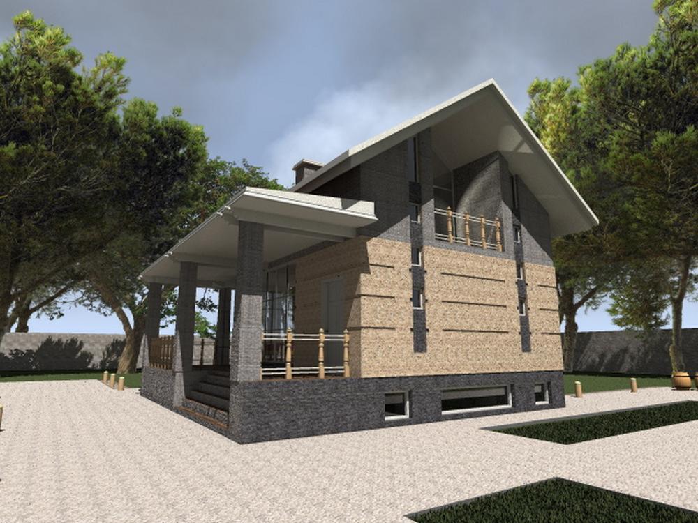 Шторм B-148. Проект дома с мансардой и цокольным этажом