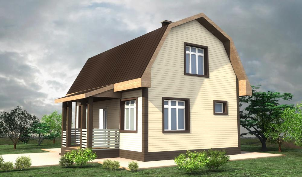 Соло A-078. Проект небольшого мансардного дома на 2 спальни