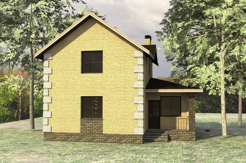 Стефан B-143. Проект небольшого дома с мансардой, на 3 спальни