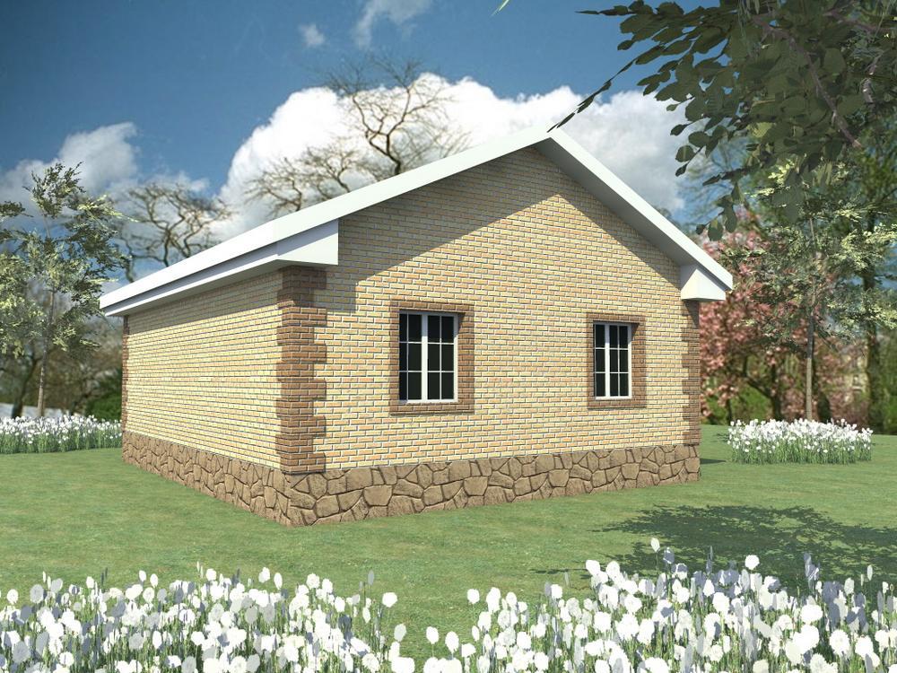 Свот A-036. Проект одноэтажного дома с двумя спальнями