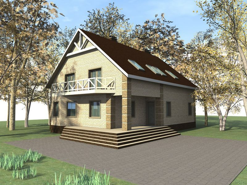 Святогор E-029. Проект большого мансардного дома на 6 спален