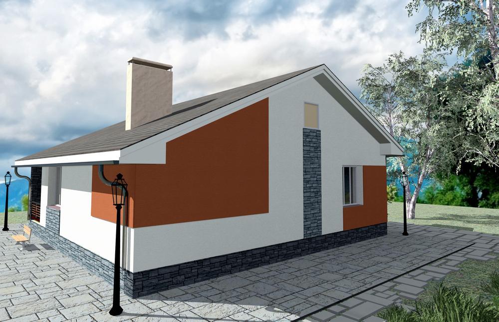 Тадеус B-106. Проект одноэтажного квадратного дома на 2 спальни