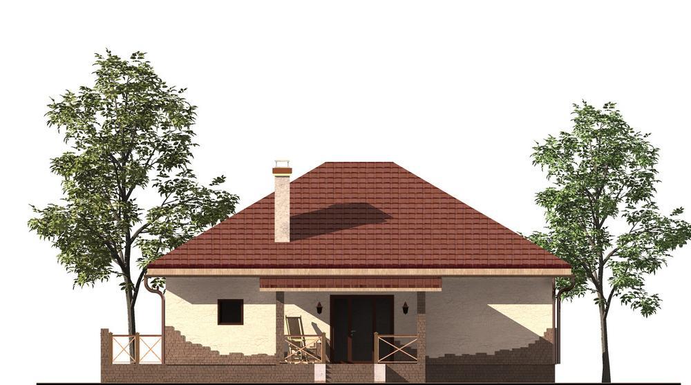 TRON A-055. Проект небольшого одноэтажного дома на 2 спальни