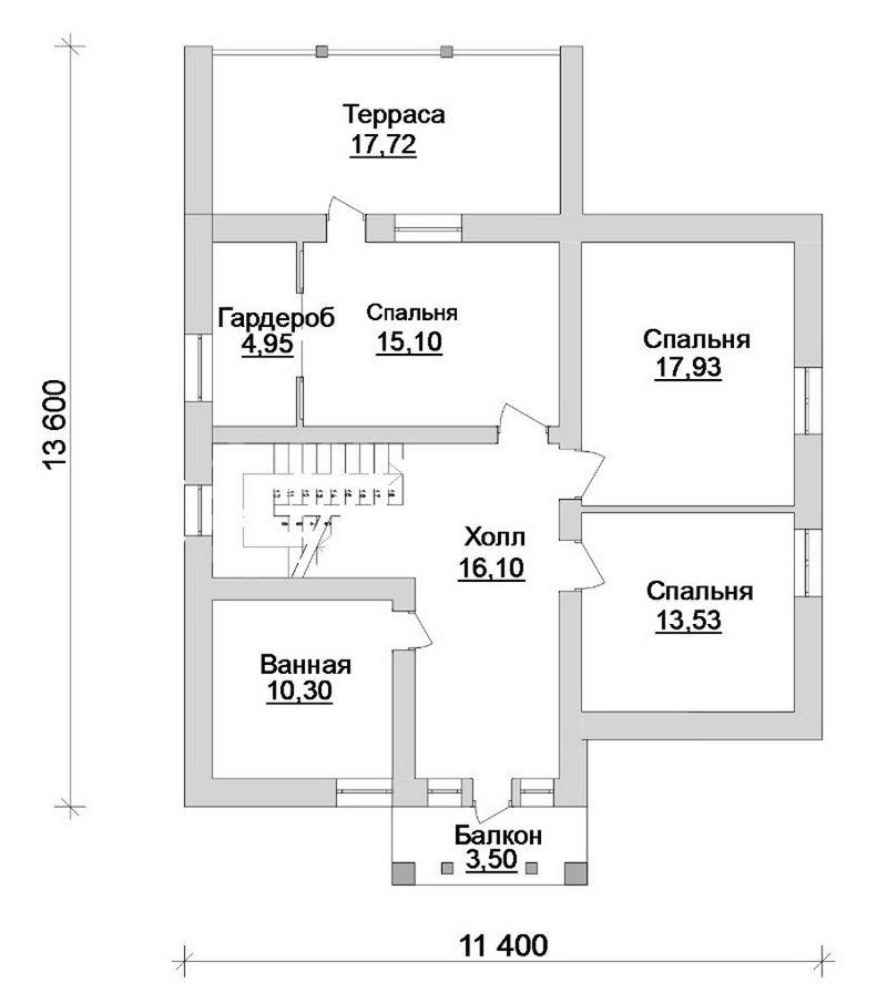 УХВАТ D-071 с видеообзором. Проект мансардного дома на 3 спальни, с террасами