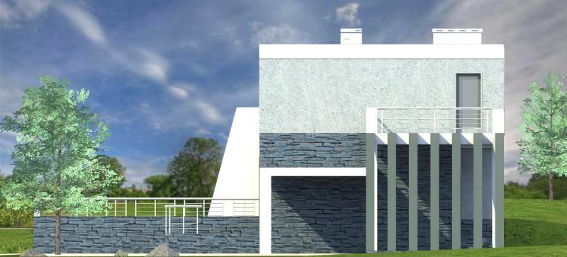 Ультрас C-180. Проект современного двухэтажного дома на 3 спальни + гараж и три террасы