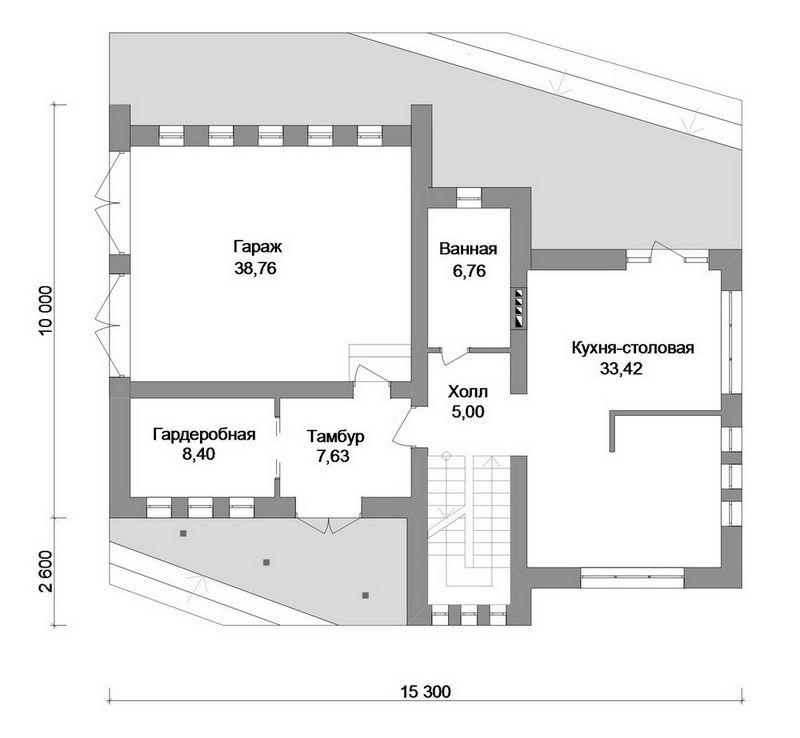 Урбан C-177. Проект двухэтажного дома с 2 спальнями, гостиной, бильярдной, зимним садом