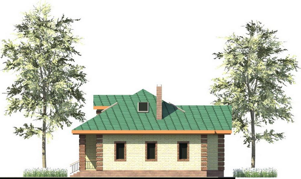 Василид C-241. Проект дома с мансардой, четырьмя спальнями и террасой