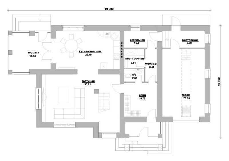 Великолепный век E-038 с видеообзором. Проект двухэтажного дома на 3 спальни, с двумя террасами и гаражом
