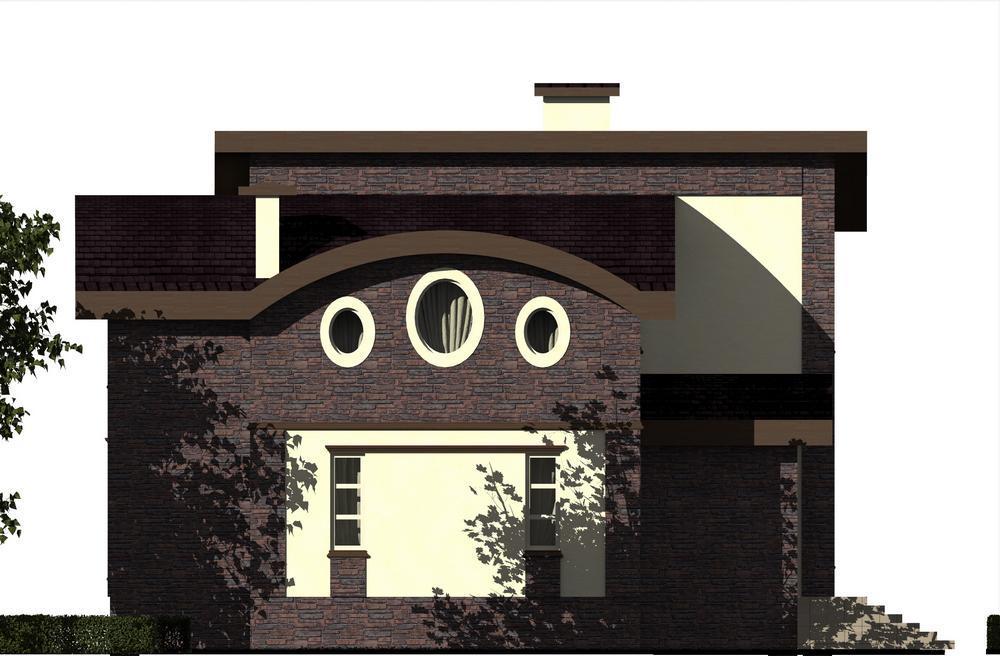 Везувий C-182 с видеообзором. Проект оригинального мансардного коттеджа на 4 спальни