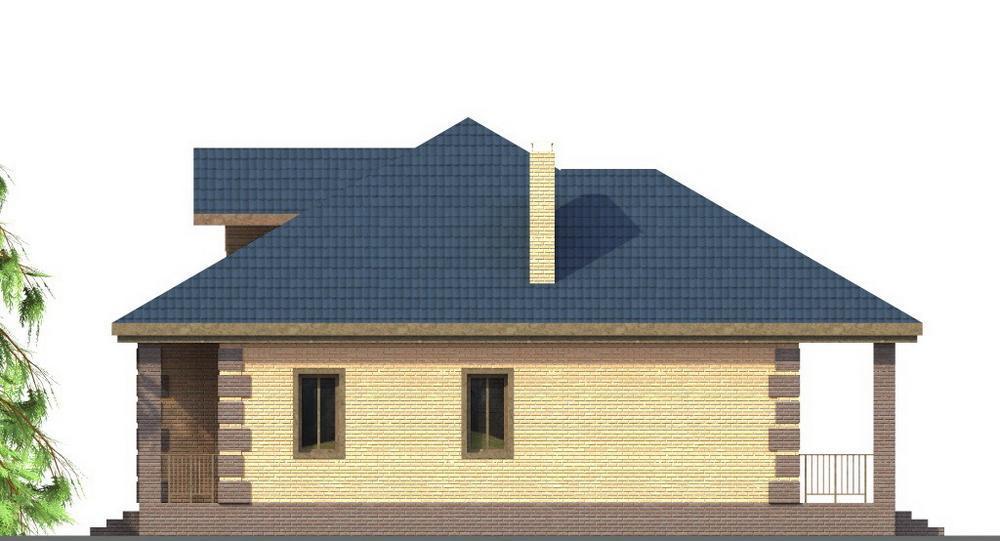 Восход B-223. Проект одноэтажного дома на 3 спальни, с террасой