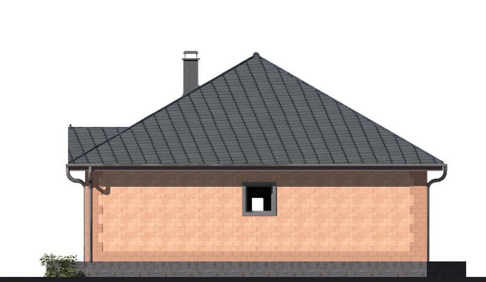 Жемчуг B-185. Проект одноэтажного дома с тремя спальнями, террасой и эркером